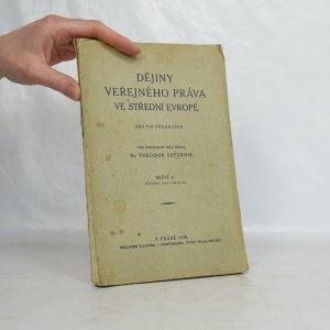 náhled knihy - Dějiny veřejného práva ve střední Evropě (nástin přednášek, sešit 2)