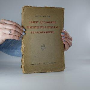 náhled knihy - Dějiny soudobého písemnictví a myšlení francouzského