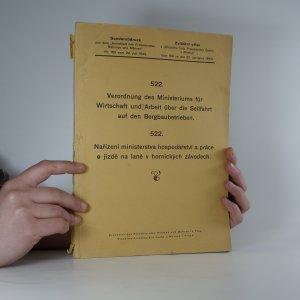 náhled knihy - Nařízení ministerstva hospodářství a práce o jízdě na laně v hornických závodech