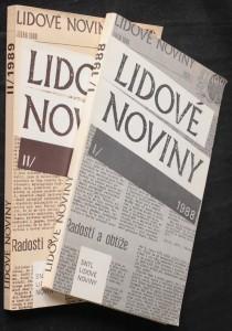 náhled knihy - Lidové noviny 1988 1989 (2 svazky)