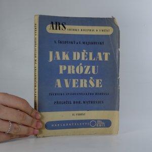 náhled knihy - Jak dělat prózu a verše. Technika spisovatelského řemesla.