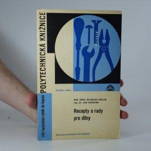 náhled knihy - Recepty a rady pro dílny