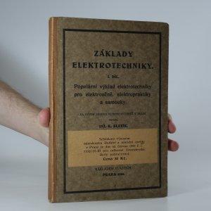 náhled knihy - Základy elektrotechniky, 1. díl