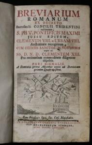 antikvární kniha Breviarium romanum ex decreto sacrosancti Concilii tridentini restitutum, Pars Hiemalis, 1769