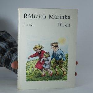náhled knihy - Řídících Márinka. III. díl
