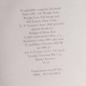 antikvární kniha Elizabeth radí jak zhubnout, být hezká a šťastná, 1991