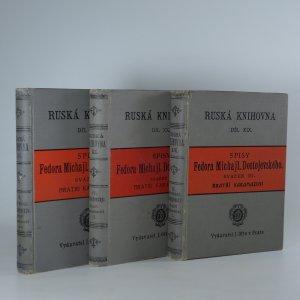 náhled knihy - Bratří Karamazovi  (3 díly ve třech svazcích. Spisy III. - V.)