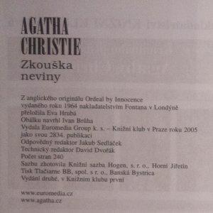 antikvární kniha Zkouška neviny, 2005