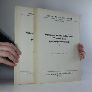 náhled knihy - Anglicko-česká tematická lexikální minima 13 právních oborů zpracovaná pro aplikativní cíle I.-II. (2 svazky)