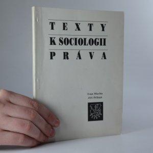 náhled knihy - Texty k sociologii práva