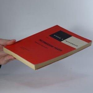antikvární kniha Mezinárodní právo, 1977