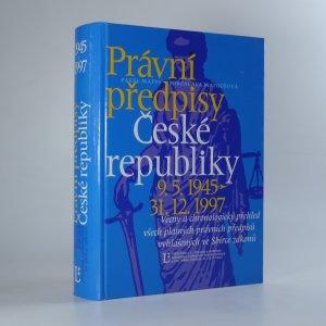 náhled knihy - Právní předpisy České republiky 9.5.1945 - 31.12.1997