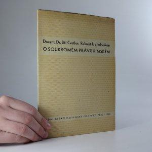 náhled knihy - Rukojeť k přednáškám o soukromém právu římském