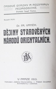antikvární kniha Dějiny starověkých národů orientálních, 1910