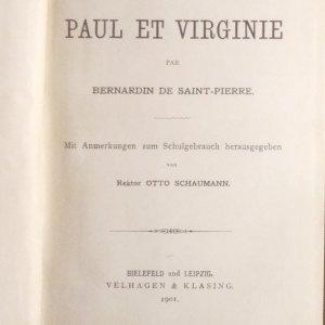 antikvární kniha Paul et Virginie, 1901
