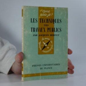 náhled knihy - Les techniques des travaux publics