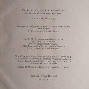 antikvární kniha Atomový věk, 1956