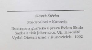 antikvární kniha Mudrosloví z Kunovic, 1992