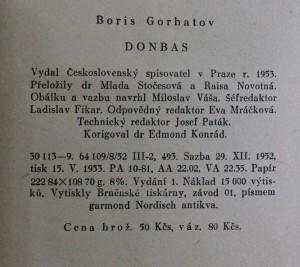 antikvární kniha Donbas, 1953