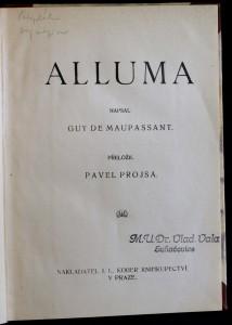 antikvární kniha Alluma, neuveden