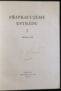 antikvární kniha Připravujeme estrádu. 3. svazek , Materiál pro estrády, 1956