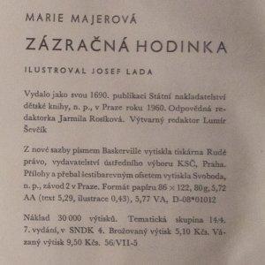 antikvární kniha Zázračná hodinka, 1960
