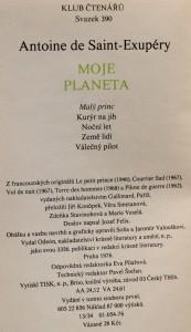 antikvární kniha Moje planeta, 1976