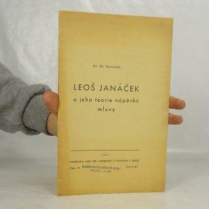 náhled knihy - Leoš Janáček a jeho teorie nápěvků mluvy