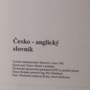 antikvární kniha Česko-anglický slovník. Anglicko-český slovník., 1991
