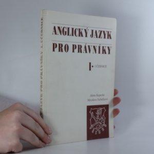 náhled knihy - Anglický jazyk pro právníky. I., Učebnice