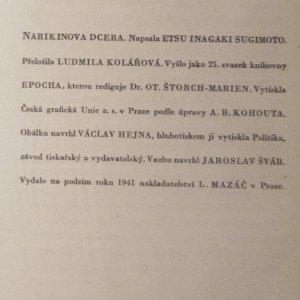 antikvární kniha Narikinova dcera, 1941