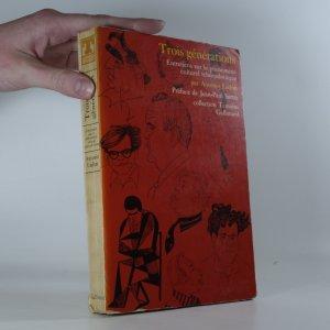náhled knihy - Trois générations : entretiens sur le phénomène culturel tchécoslovaque