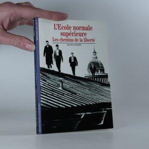 náhled knihy - L'École normale supérieure