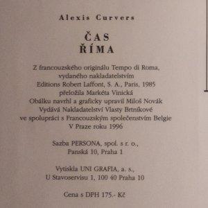 antikvární kniha Čas Říma, 1996
