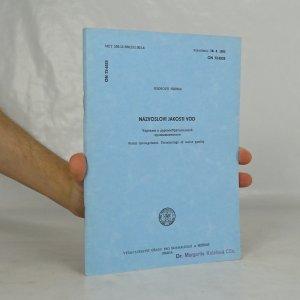 náhled knihy - Názvosloví jakosti vod