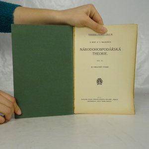 antikvární kniha Národohospodářská theorie. 1.-2. díl. (2 díly ve 2 svazcích)., 1930
