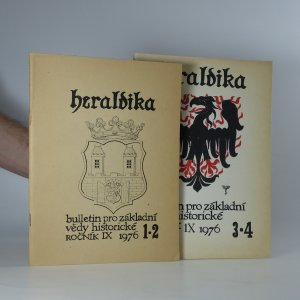 náhled knihy - 2x Heraldika (ročník IX, číslo 1,2 - 3,4)