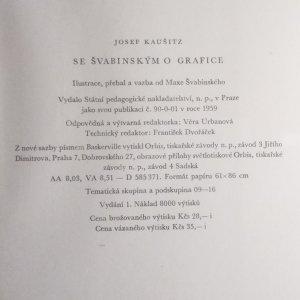 antikvární kniha Se Švabinským o grafice, 1959