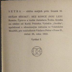 antikvární kniha Bez konce jsou lesy , 1943