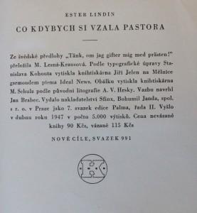 antikvární kniha Co kdybych si vzala pastora, 1947