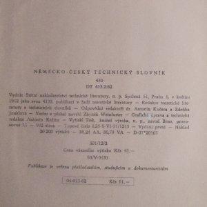 antikvární kniha Německo-český technický slovník, 1962