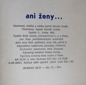 antikvární kniha Ani ženy..., 1963