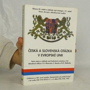 náhled knihy - Česká a slovenská otázka v Evropské unii