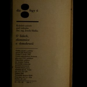 antikvární kniha O lidech, ekonomice a demokracii, 1968