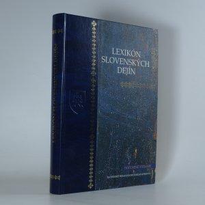 náhled knihy - Lexikón slovenských dejín