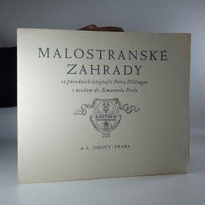 náhled knihy - Malostranské zahrady. 2 původních litografií Petra Dillingra.