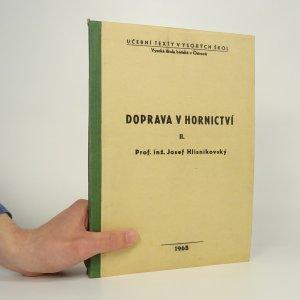 náhled knihy - Doprava v hornictví II.