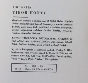 antikvární kniha Tibor Honty, 1965
