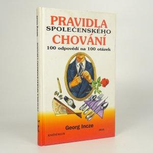 náhled knihy - Pravidla společenského chování