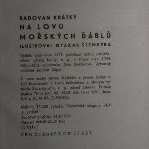antikvární kniha Na lovu mořských ďáblů, 1959